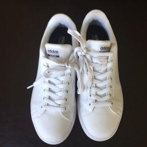 Adidas cloudform memory tennis shoes white 9